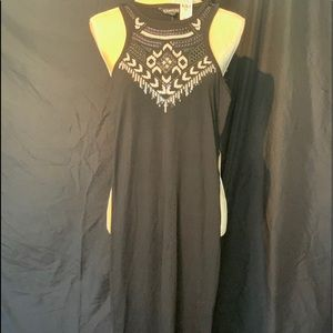 NWT Black T-back fabric dress
